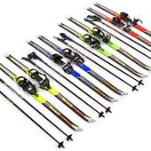 Лыжи беговые в комплекте с палками 1883-110В: длина лыж 110см