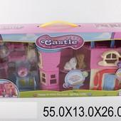 Домик SD181  батар, свет/зв, 2х-этаж, с куколками,питомцами,мебелью, в кор.37,5*8