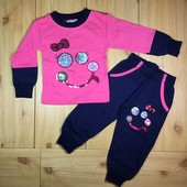 Утепленный костюм для девочки рр.80-98 Beebaby (Бибеби)