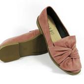 Женские туфли Комфорт розовые низкий ход