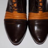 Кожаные фирменные женские ботинки Fidji 40-40.5 р сост хорош