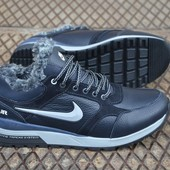 Зимние кроссовки Nike на меху натур кожа