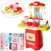 Кухня 45-62-21,5см,звук,свет,посуда,продукты,24предм,2вид,на бат,в кор