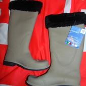 Фирменние стильние новие утепленние резиновие сапоги чоботи Esmara Италия .37+38