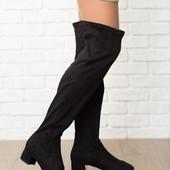 Эффектные высокие ботфорты New Look на квадратном каблуке   SH4112