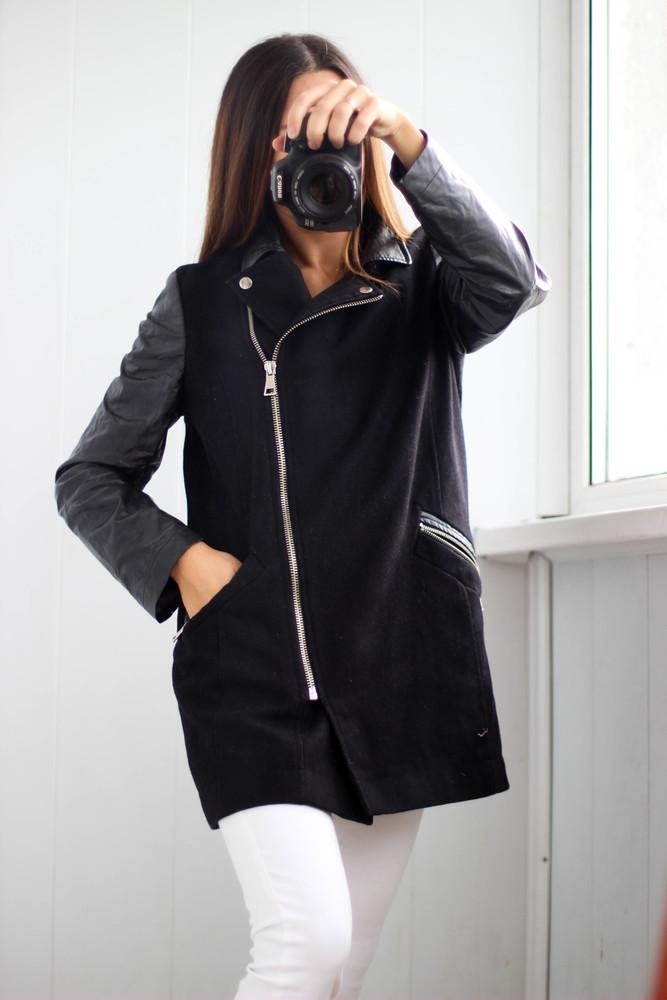 куртка с кожаными рукавами женская картинки