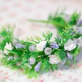 Новогодний обруч ободок венок елочка