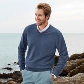 100%хлопок.свитер с V образным.ТСМ.Германия.48-50