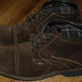 Кожаные ботинки 40 р Huch Puppies отличное состояние