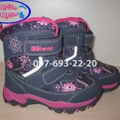 Термо ботинки B&G для девочки R181-617 р. 24-29 термики, сноубутсы, биджи