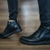 Ботинки Cevivo, натур. кожа на меху, р 40-45, код gavk-10475