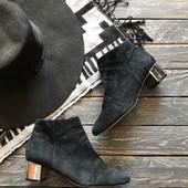 Замшевые ботинки на устойчивом каблуке Antea рр 38