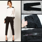 Zara.шикарные брюки.фактурная ткань.