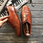 Кожаные туфли-броги Англия р-р 44