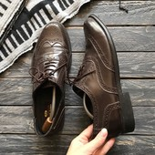Кожаные туфли броги Clifford James р-р 43- 44