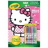 Раскраска Crayola hello kitty colouring activity pad 32 pages + фломастеры