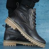Мужские зимние ботинки Clarks brown