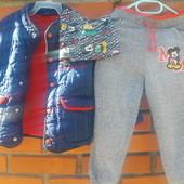 Курточка, спортивные штаны и шапка