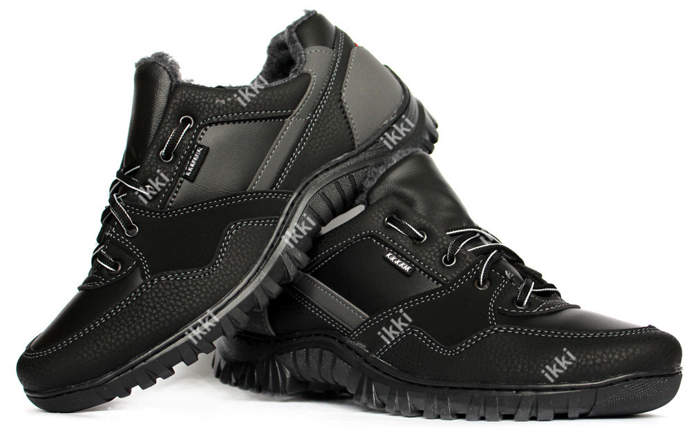 купить черные кроссовки мужские зимние
