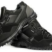 Зимние кроссовки для мужчин черного цвета (КБ-28ч)