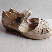 Разм.39(стелька 24,5 см). Летние кожаные туфли в идеале.