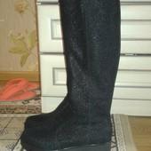 Новые кожаные сапоги на цигейке Зара-001S Soldi Солди, 39 р, 25,5 см.