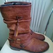 Rieker. 39 p.  Кожаные демисезонные ботинки сапоги