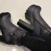 Ботинки женкие высокий каблук