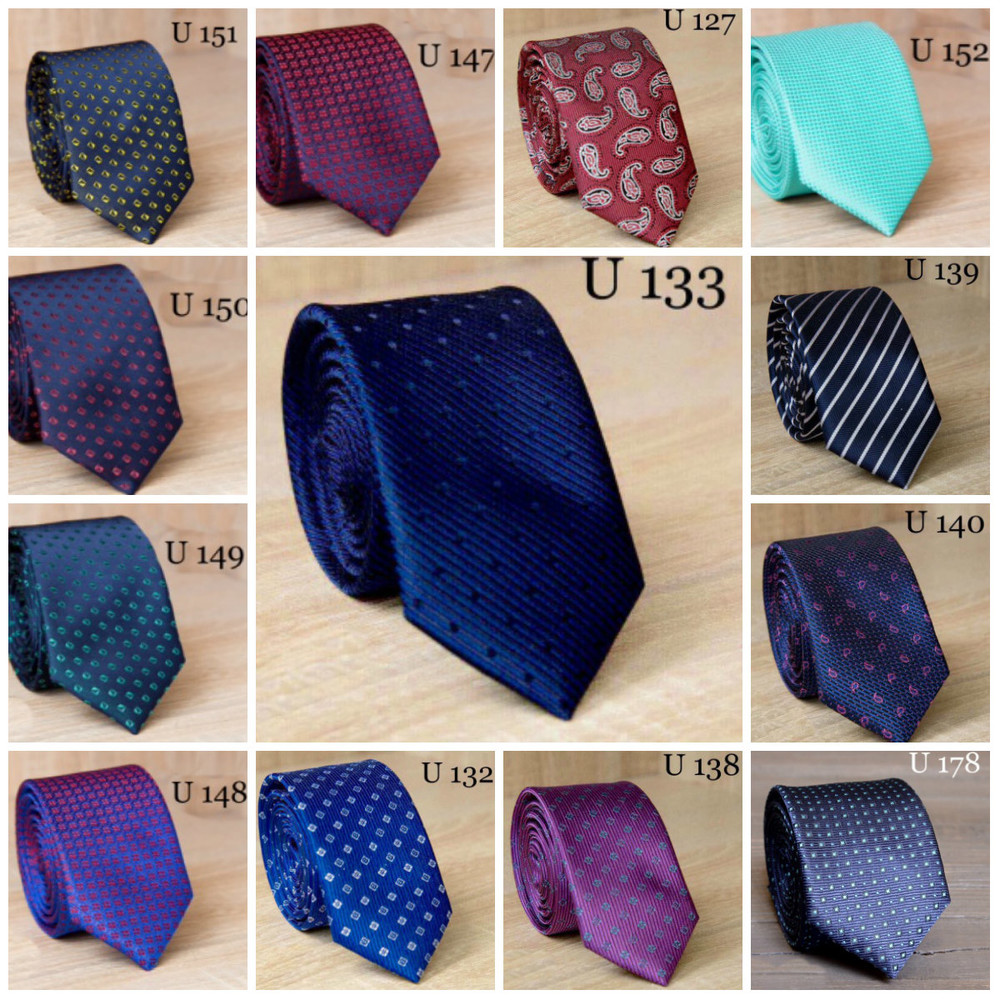 В наличии большой выбор молодежный узкий галстук жаккард с рисунком, 11 фото №1