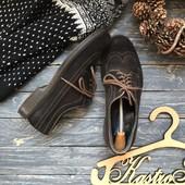 Натуральные замшевые туфли броги р-р 44