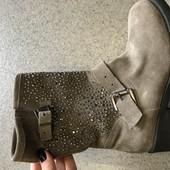 Новые женские ботинки,ботильоны,бренд San Marina, замшевые,кожаные , 37 р