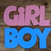 Слова Girl & Boy  по 15 см высотой