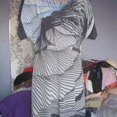 Красва і дуже ніжна до тіла сіра туніка шовк з віскозою,розмір 12\40