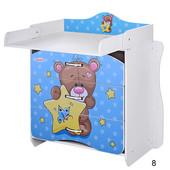 Виваст 910 комод 2 в 1 пеленальный столик детский Vivast пеленатор