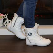 Ботинки зимние женские белые С567
