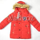 Куртка для мальчика евро зима 4-6 лет красная 3634