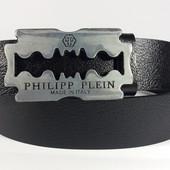 Джинсовый кожаный ремень Philipp Plein бритва