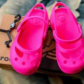 Балетки кроксы тм Crocs (крокс) Shayna girls Ballet Flats, р. C8 (наш р. 24-25), розовые