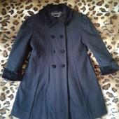 Пальто кашемировое теплое с отделкой под каракуль 5-6 лет
