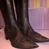 Кожаные женские сапоги от George в стиле Western, р. 36, стелька 23,5см