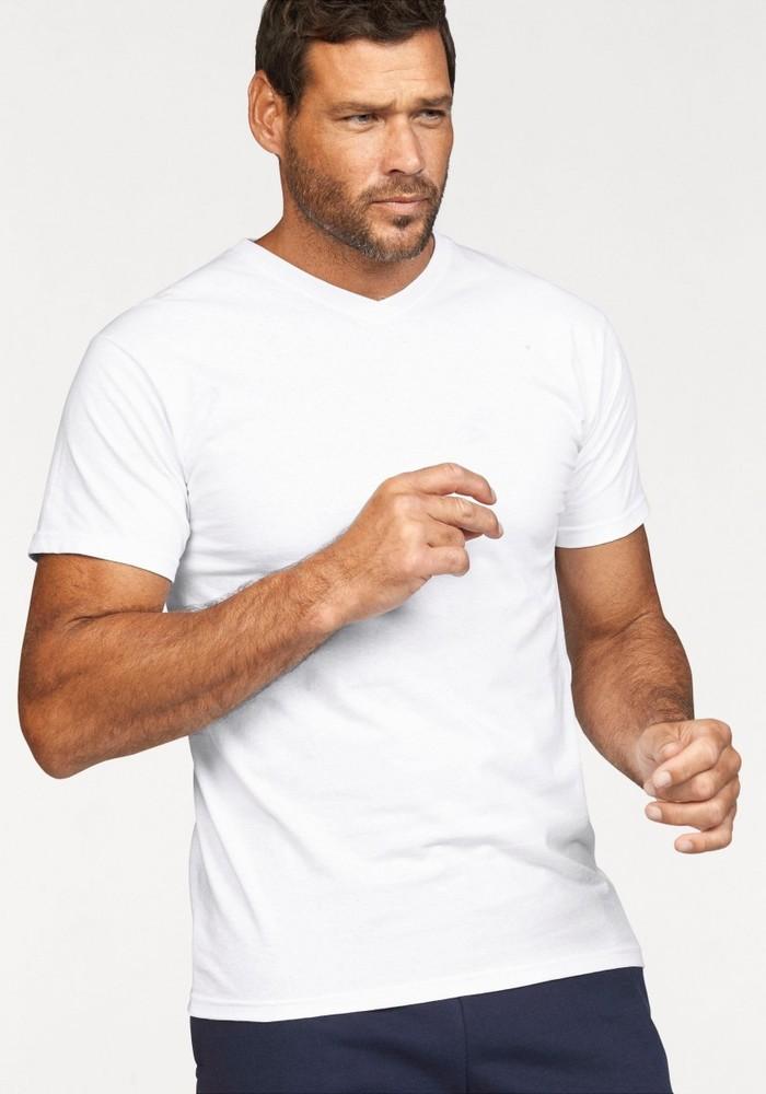 Мужская футболка с v образным вырезом фото №1