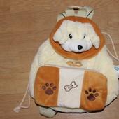 Мягкая игрушка рюкзак , сумка собачка