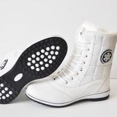 Распродажа Зимние женские ботинки Bonote white