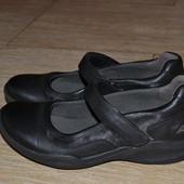 Clarks wave walk 38- 38.5р кожаные туфли балетки