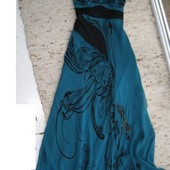 Karen Millen макси-платье 100% шелк 38-размер
