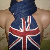 """Теплый мужской шарф """"Британский флаг"""""""