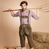 Фольклорные замшевые брюки с роговыми пуговицами для немецкого народного костюма все для Октоберфест