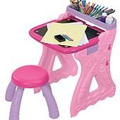 Crayola Парта со стульчиком и настольным мольбертом розовая play n fold art studio, pink