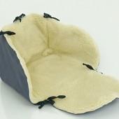 Подстилка сиденье для санок на овчине
