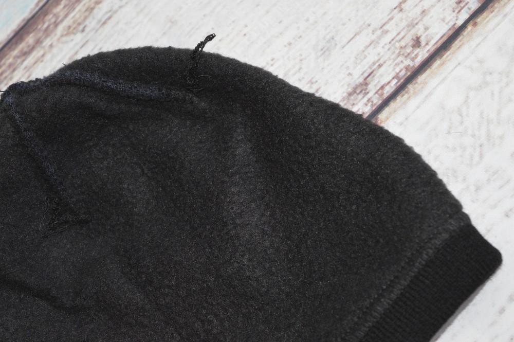 Шапка мужская adidas. подклад  - полный флис. теплая, зимняя, деми. на флисе, флисовая подкладка фото №4